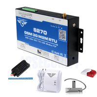 sms controller GSM RTU gateway S270 with temperature sensor, humidity, gas, door control,wired siren by SMS transmision