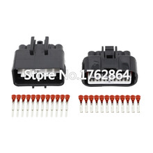 цена на 10 Sets 12 Pin sheathed automotive connector with Terminal  DJ7121F-2.2-11 / 21 12P connector
