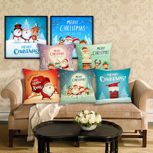 Christmas Cushion Cover Home&Car Decor Pillowcase Letter Pillows Home Decorative Housse De Coussin