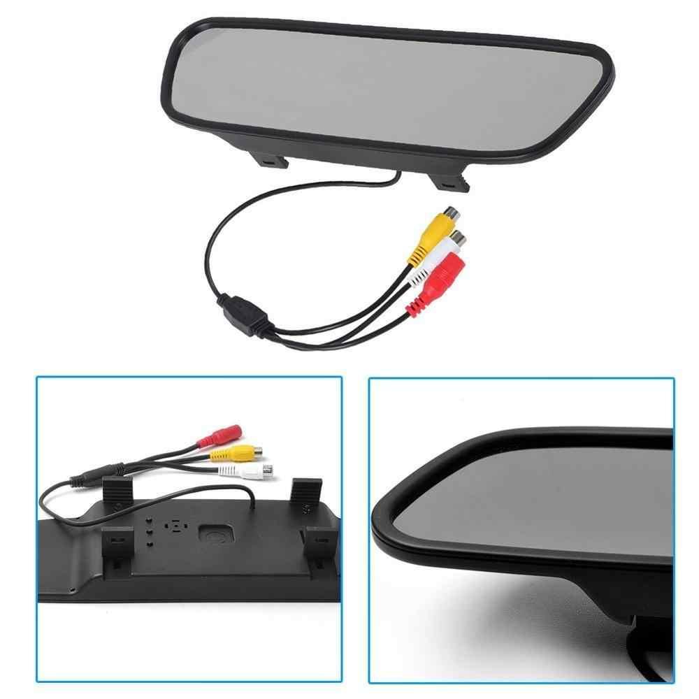 5 дюймов цветной TFT ЖК-экран антибликовые очки зеркало заднего вида автомобиля монитор PAL/NTSC Система 2 AV входные порты автоматическое переключение