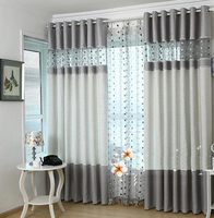 New!! Fashion brief dodechedron quality chenille readymade cloth curtain yarn tulles window screen can customize sizes&process