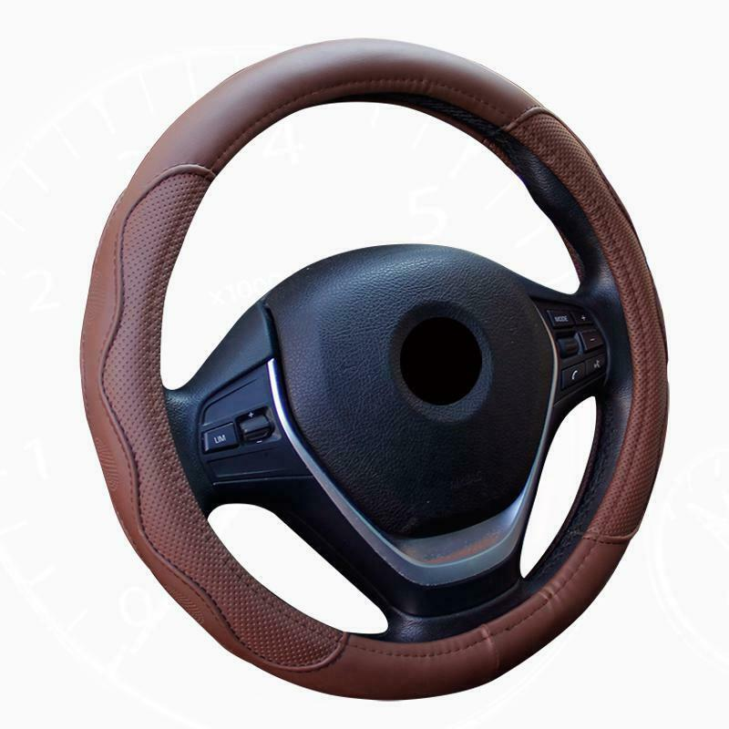 Universal 38cm Auto Car Steering Wheel Cover New Luxuary Fashion Simple Interior Accessories For All Seasons(China)