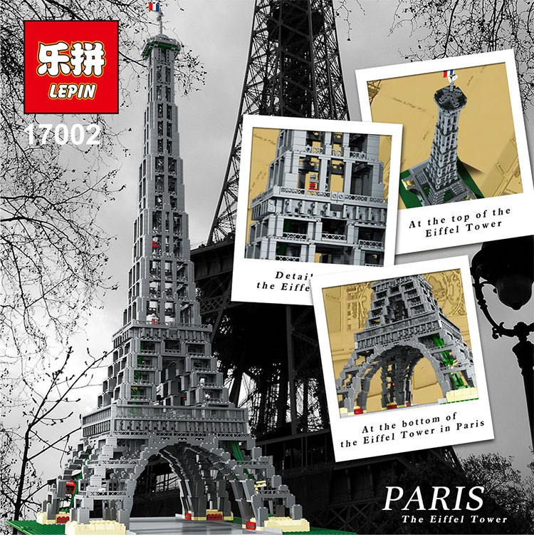 LEPIN 17002 City series The Paris Eiffel Tower 3478 pcs Building Block Bricks For Children Toys Compatible With LEPIN 1711 city swat series military fighter policeman building bricks compatible lepin city toys for children