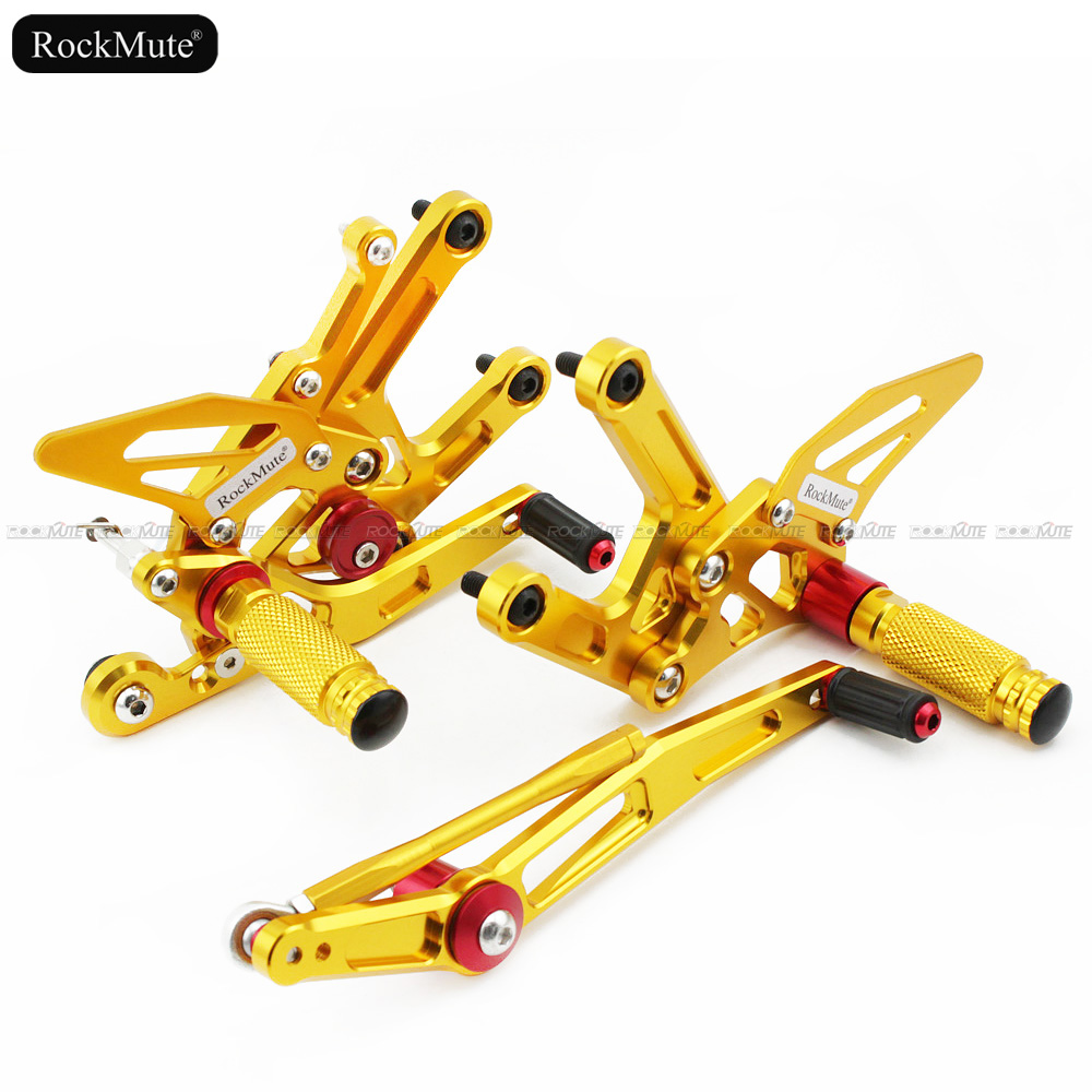 CNC Aluminum Motorcycle Adjustable Rearset Rear Set Foot Pegs Pedal Footrest For YAMAHA YZF R6 2006-2016