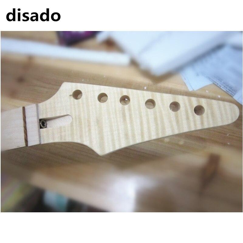 Disado 24 frettes érable guitare électrique cou érable touche bois couleur gros accessoires de guitare pièces instrument de musique