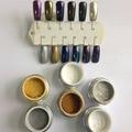 Hotest magic metallic powder gel polish use metallic mirror effect nail polish powder set
