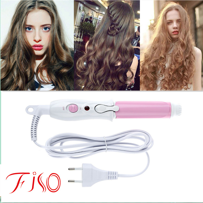 Mini Portable Electric Hair Curler Personal Hair Styling Tools Thermostatic Wavy Tourmaline ceramic Curling Iron ckeyin 9 31mm ceramic curling iron hair waver wave machine magic spiral hair curler roller curling wand hair styler styling tool