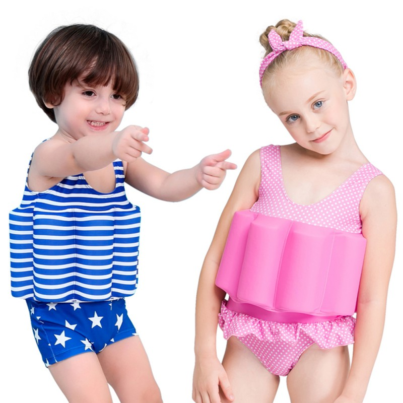 Childrens Multi-Function One-Piece Swimsuit With Floating Cotton Washable Detachable Safety Nylon Swimwear Pool SetChildrens Multi-Function One-Piece Swimsuit With Floating Cotton Washable Detachable Safety Nylon Swimwear Pool Set