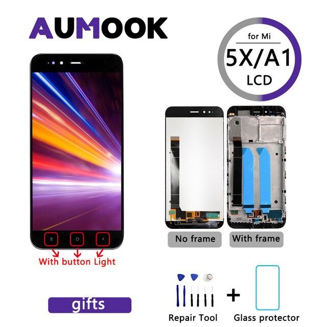 Pantalla LCD de 5,5 pulgadas AAA para móvil, repuesto de marco para digitalizador, para xiaomi mi a1, A1, 5x