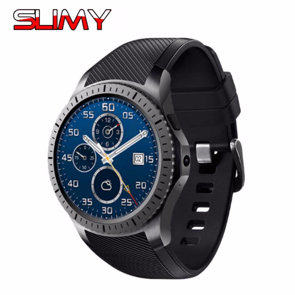 Slimy 2.0M HD Camera Quad Core Smart Watch MTK6580 3G SIM Card Android 5.1 WIFI Bluetooth Internet GPS Wearable Smartwatch slimy dm368 sports smart watch phone mtk6580 android os 3g wifi gps heart rate oled quad core bluetooth smartwatch pk dm98 dm09