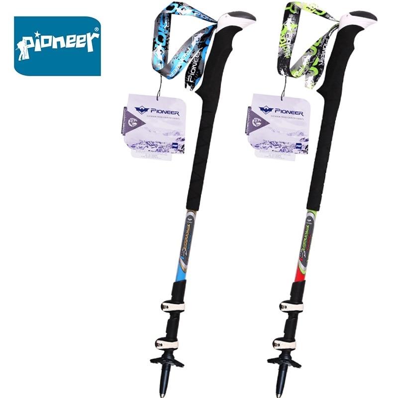 2 Pack 100% Carbon Fiber Trail Running Trekking Poles Telescopic Lightweight Quick Lock Nordic Walking Sticks 2pcs/ lot 2pcs pack 100