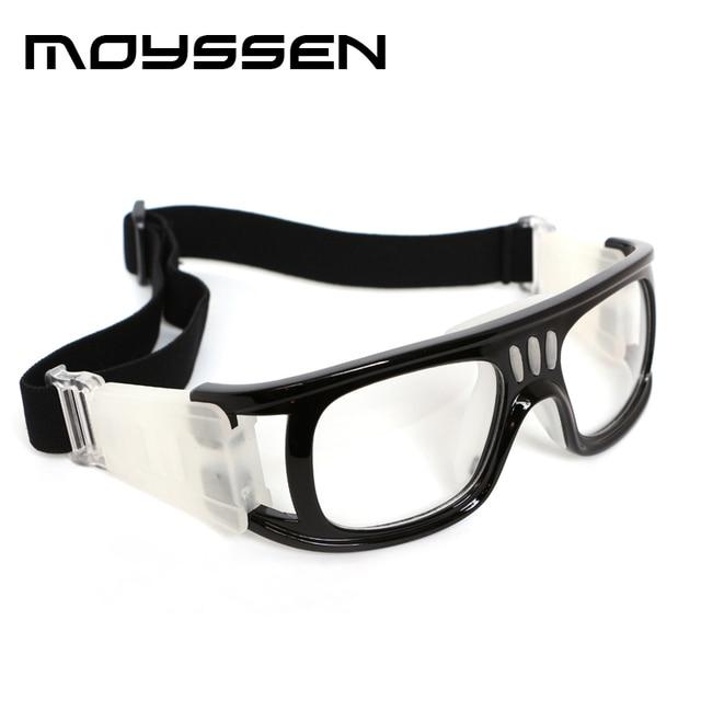 a2edf97a601 Moyssen Men s Outdoor Basketball Glasses GYM Eyes Protective Sports Goggle  Myopia Prescription Eyeglasses with Hard Case