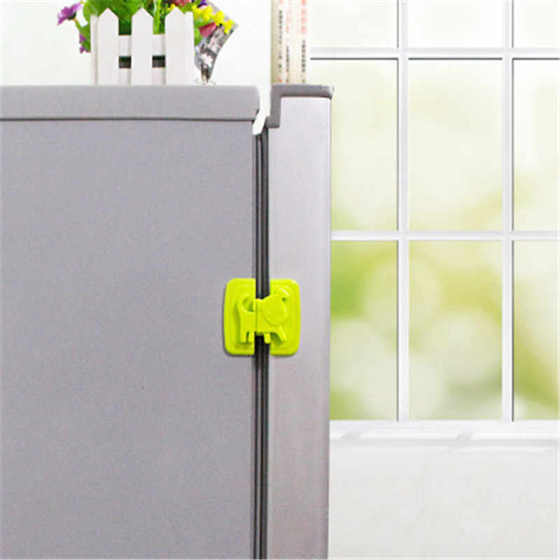 Cabinet Door Refrigerator Toilet Safety Lock For Child Baby Safety Lock Cartoon Dog Puppy Shape Safety Fridge Door Locks