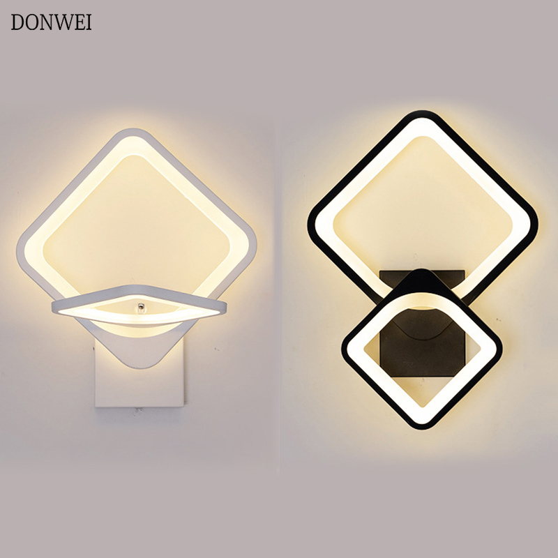27W LED Wall Lamps 360 Degree Rotation Bedroom Beside Wall Lights 3 Light Colors Changeable Indoor Living Room Corridor Lighting