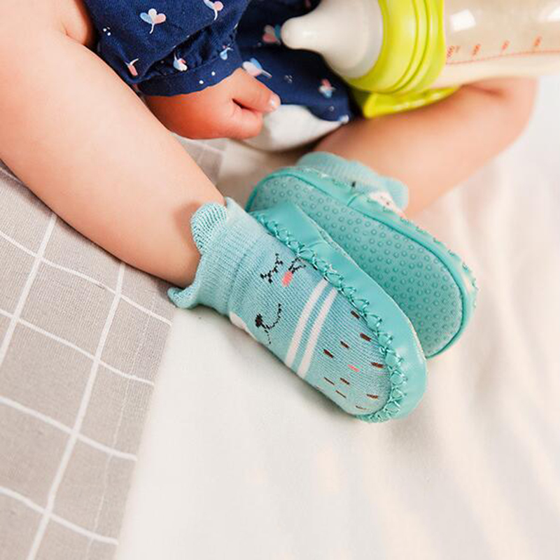 Autumn Winter Baby Floor Socks 2020 Fashion Baby Socks Rubber Soles Infant Baby Stuff Sock Newborn Shoes Anti-Slip Soft Sole