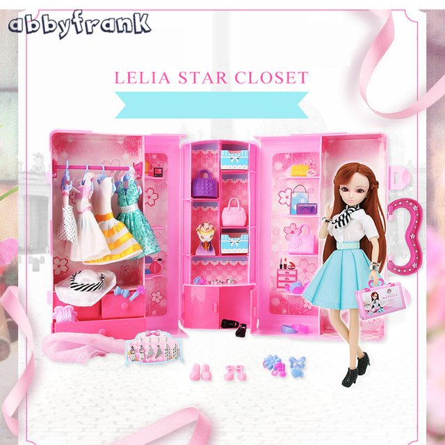 1 Set Doll Dress Up Wardrobe Package Gift Box Couples Clothing Suit Girl  Toys Dream Closet