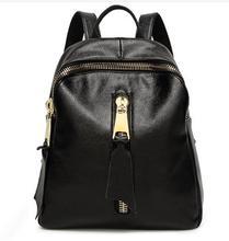 Frauen Aus Echtem Rindsleder Rucksack Schultasche mit reißverschluss tasche 2016 neue design, echtes Leder Schulter Dame tasche,