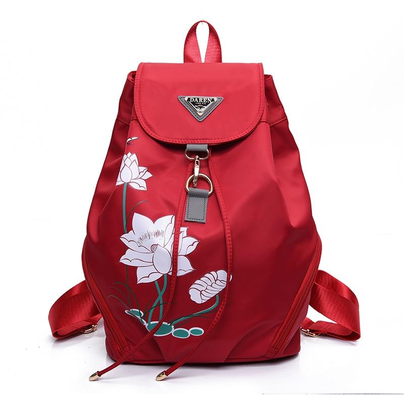 High quality waterproof anti-fouling nylon Backpack women canvas Large capacity travel bagpack women mochila kanken backpack 6