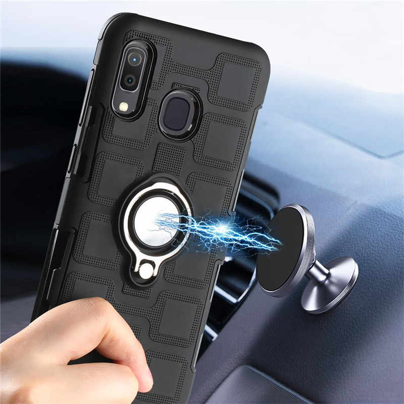 Luxury Bracket Ring Shockproof Case For Huawei P30 P20 Mate 10 Lite Case For Huawei y9 y7 Prime y6 Pro 2019 P smart y5 2018 Case