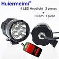 1 paar 12 v 40 watt Motorrad LED scheinwerfer Motorrad Hilfs Arbeit Lichter 6000 karat hohe Helligkeit Nebel Lampe Spot scheinwerfer Scheinwerfer auf