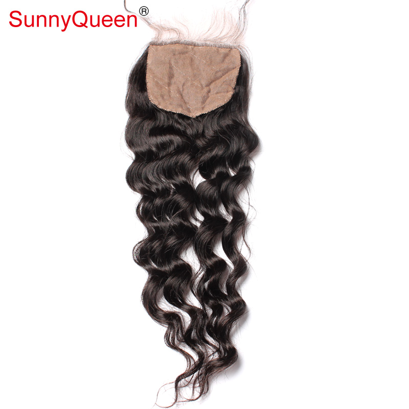 6a Virgin Cambodian Loose Wave Silk Base Closure Cheap 4x4