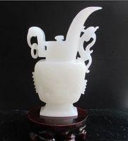 100% pure natural handmade Afghanistan jade. The dragon vase NR|jade natural|jade vases|jade dragon -