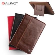 Qialino Планшеты чехол для iPad Mini 4 Пояса из натуральной кожи флип стентов покоя mini4 Стенд Крышка слот для карт памяти чехол для iPad мини 4 кожи