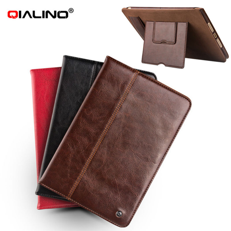 Tablet Case For iPad mini 4 Genuine Cow Leather Flip Stents Dormancy mini4 Stand Cover Card