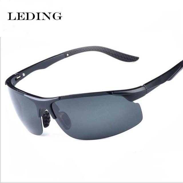95b6cda7d LEDING moda TR90 Óculos Polarizados de Alumínio E Magnésio Masculino óculos  de sol masculinos esportes de