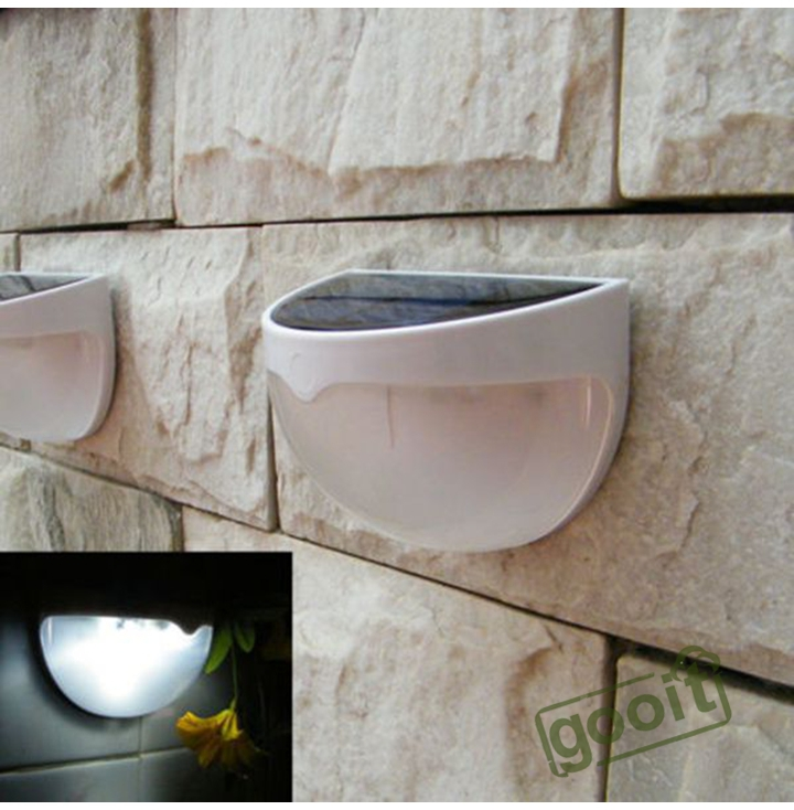 Solar 6 LED Light Outdoor Fence Roof Up-Stair Wall Mounted Yard Lamp Solar Powered Fence Roof Gutter Garden Yard Wall Lamp