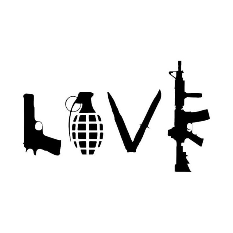 13*22CM Field Shooting Military Supplies Decals Graphic Car Stickers Military Enthusiasts Car Wall Stickers