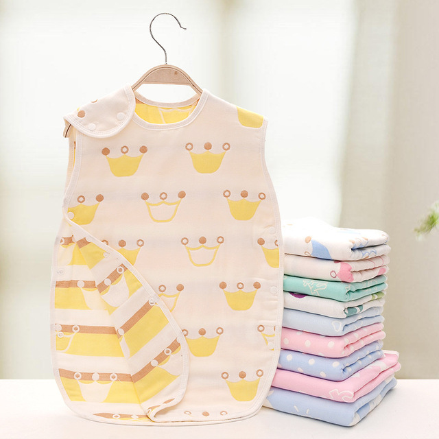 muslin swaddle sleeping bag mushroom newborn infants vest gauze spring autumn cute aden anais cotton baby blanket 40*60cm