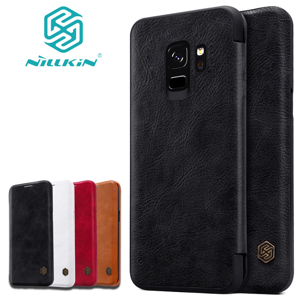 Nilkin Capa for Samsung S9 S8 Note 8 Case Nillkin Vintage PU Flip Leather Back Phone Cover for Samsung Galaxy S9 S8 Plus Note8