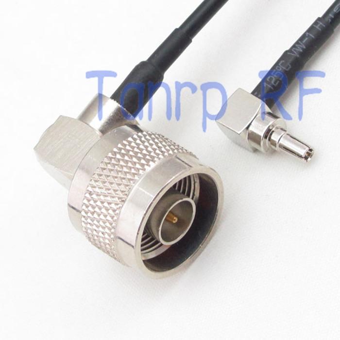50 cm pigtail cable de puente coaxial RG174 extensión 20in CRC9 macho a n macho enchufe RF del ángulo recto adaptador de conector