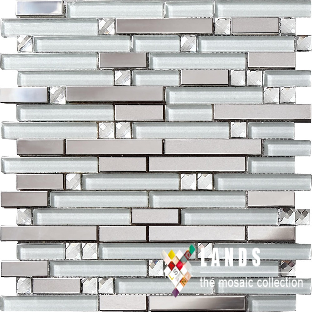 Crystal Glass Metal Mosaic,3D Stainless Steel Glass Tiles Backsplash Tiles  For Kitchen Bathroom Shower Home Wall Decor, SA047 18 In Wallpapers From  Home ...