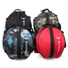 Forma redonda pelota de baloncesto de fútbol voleibol mochila deportes bolsa  de hombro pelota de fútbol bolsa para hombres y muj. 524e1bd1984a7