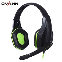 2016 New OVANN X1 2.4m Wired Noise Cancelling Gaming Headsets with Microphone Volume Control 3.5mm Audio Jack Headband Earphone