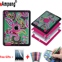 Case For Apple IPad 2 3 4 Resistant Hybrid Three Layer Pattern Heavy Duty Tablet Shell