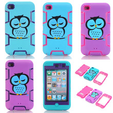 Shockproof Hybrid Hard&Soft Silicone Cover Case for Apple iPod Touch 4