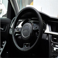 For Audi A3 A4l A6L A8 Q3 Q5 Q7 Fashion PU Sports Braided Car Steering Wheel Winter Warm Soft PU Wheel Cover For Car LZH