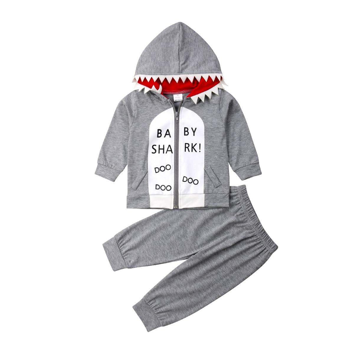 2PCS Toddler Baby Boy Girl Sweatshirts Hoodies Pants Legging Outfit Clothes Set