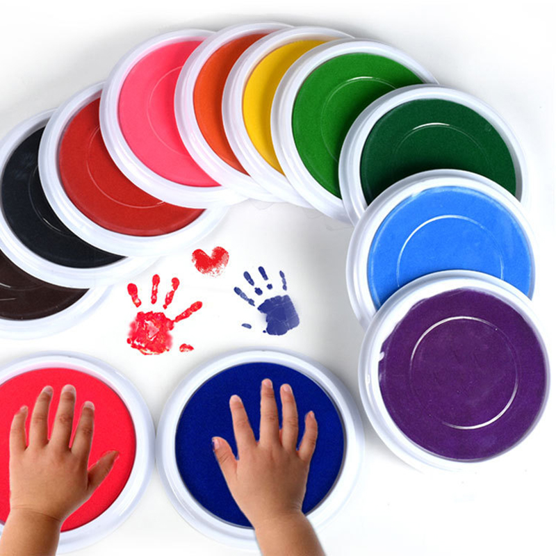 Baby Painting Finger Drawing Toys Kids Funny Graffiti Colored DIY Finger Drawing Toys Washable Craft Inkpad Educational Toys
