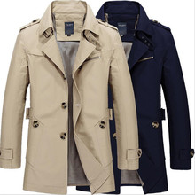 Men Jacket Autumn Winter Long Section Fashion Casual Solid Coat Jaqueta Masculina Veste Homme Brand Overcoat Jacket Outwear 5XL