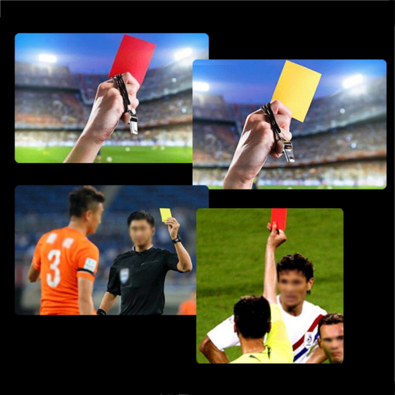 Soccer Referee Thick PVG Red Yellow Card + Pencil + Leather Case Notebook Sport Football Match Sport Accessories