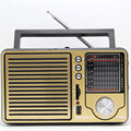 Antique vintage retro full-band Portable FM radio older desktop support USB elderly consumer electronics gift free shipping