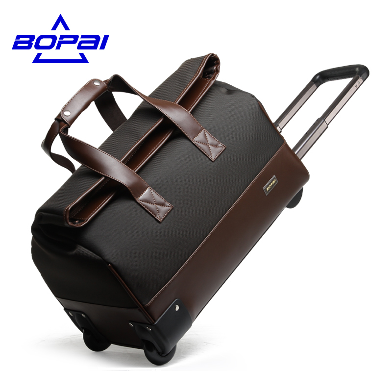 956a71f29eb Click here to Buy Now!! Unisex Trolley Travel Bags On Wheels Waterproof men.  BOPAI Fashion WaterProof Travel Bag Large ...