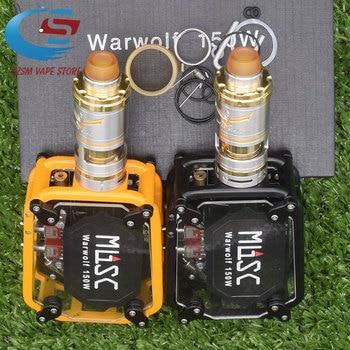 Electronic cigarette Warwolf 150W Box Mod Kit vape with v6 S 23mm RTA Atomizer e-cigarette output 3500mAh battery vape original ehpro 2 in 1 fusion 150w tc kit max 150w w fusion mod
