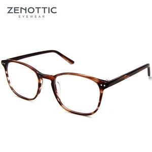Image 2 - ZENOTTIC Retro Acetate Square Glasses Frames for Women Men Unisex Myopia Optical Eyewear Frames Prescription Eyeglasses