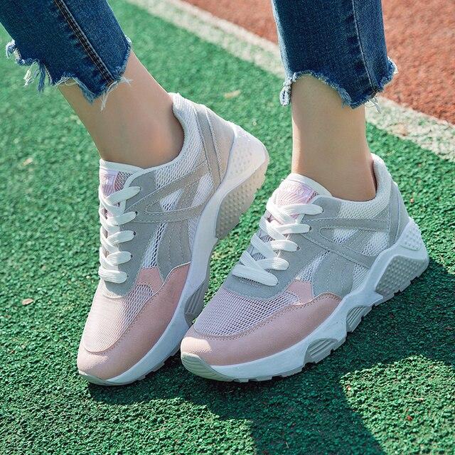 e2efb29052f9 € 18.11 50% de DESCUENTO|2018 zapatos de Mujer Zapatillas de correr para  Mujer zapatos transpirables para correr Zapatillas Deportivas Mujer ...
