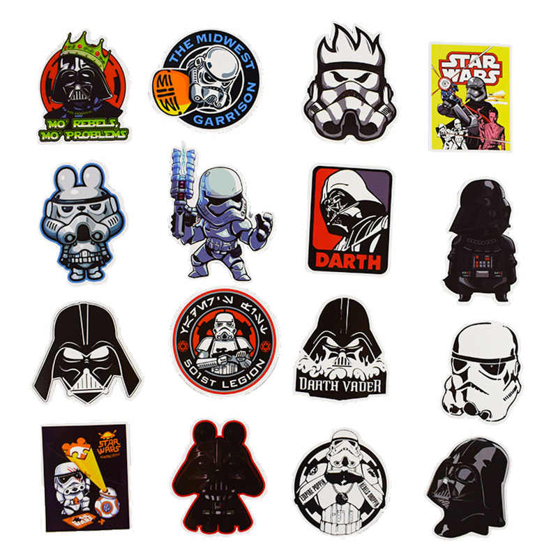 50pcs/pack Star Wars Stickers For kids Computer PS4 on ...